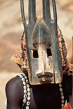 Mourning ceremony, Dogon country, Mali.