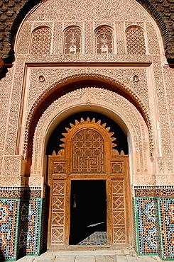 Medersa, Ben Youssef, Marrakech, Morocco.