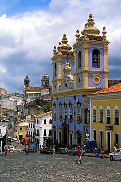 Nossa Senhora do Rosario dos Pretos church, Largo do Pelourinho, Salvador da Bahia, Brazil.