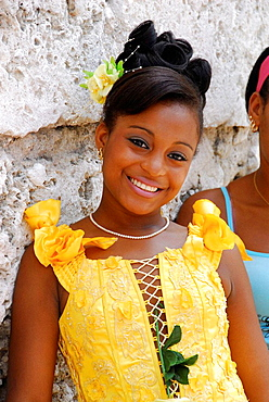 Quinceanera', a young woman's celebration of her fifteenth birthday, Havana, Cuba