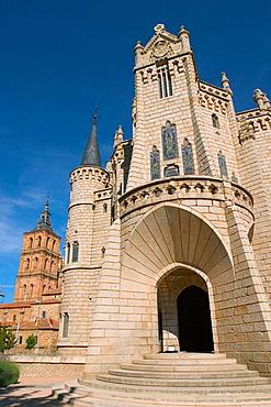 Palacio Episcopal, by Gaudi, Astorga, Camino de Santiago, Leon province, Castilla y Leon, Spain.