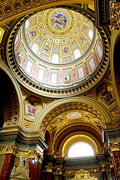 Dome of St, Stephen's basilica, Budapest, Hungary