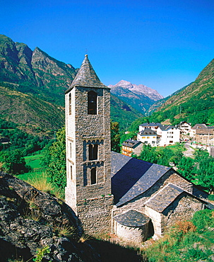 Sant Joan de Boi church, Boi valley, Pyrenees Mountains, Lleida province, Spain