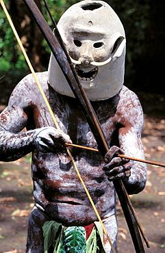 Asaro man, Papua New Guinea