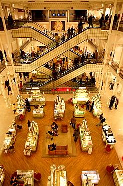 The interior view of department store Le Bon Marche, Paris, France
