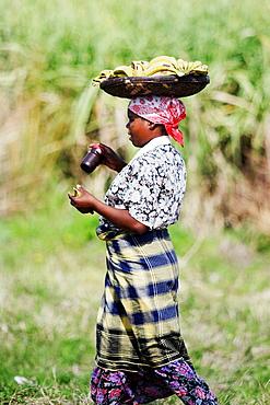 Banana seller, Mozambique