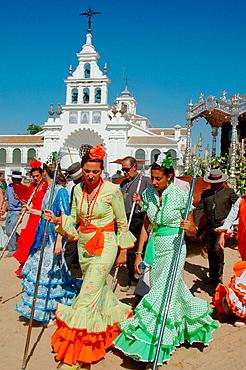 Romeria (pilgrimage) to El Rocio, Huelva province, Spain