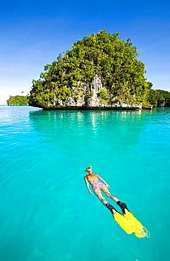 Skin Diving at Palau, Micronesia, Palau