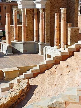 Cartagena (Murcia), Espana, Interior del Teatro Romano de Cartagena.