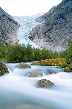 Jostedalsbreen glacier (Briksdalbreen), Sogn og Fjordane, Norway.