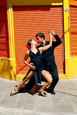 Tango, Caminito street, La Boca district, Buenos Aires, Argentina