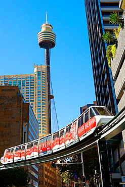 Monorail and Sydney Tower, Sydney City, New South Wales, Australia, April 2006
