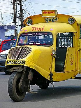 Mad max local transports vehicle along the road  Bhopal, Madhyaprsdesh, India