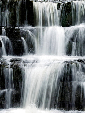 Waterfall at Bowlees above Middleton in Teesdale County Durham UK England