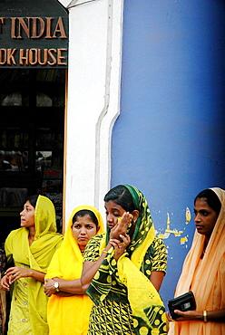 Panjim Goa, India, Muslim girls during the Jashn-Eid-Milad Un Nabi feast, to commemorate prophet Mohammed's birth