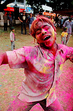 Panjim Goa, India, boy dancing during the Holi feast - 817-193980