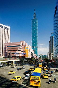 Nov, 2007, Taiwan, Taipei City, Taipei 101 Bldg (World's tallest Bldg.)