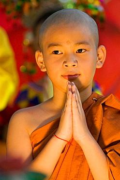 Little monk at Wesak Day Festival in Kuching, Sarawak, Malaysia