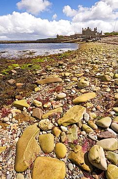 Coastline at Wick of Sandsayre, Leebotten, Mainland, Shetland, Scotland, UK