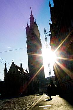 St, Bavo's cathedral in Sint Baafsplein, Ghent, Flanders, Belgium