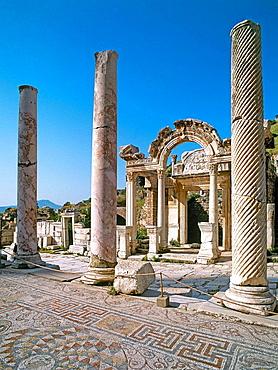 Temple of Hadrian, ruins of Ephesus, Turkey