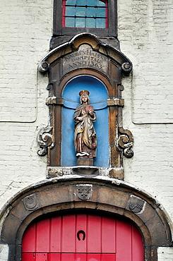 Belgium, Flanders, Ghent, Kindren Halyns Hospital, Old Door