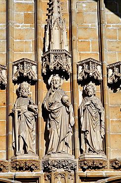 Belgium, Flanders, Ghent, Saint Bavo Cathedral, Detail Facade