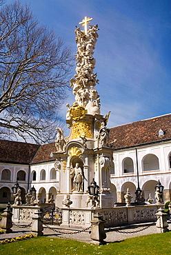 Baroque Holy Trinity column, Heiligenkreuz Abbey, Austria