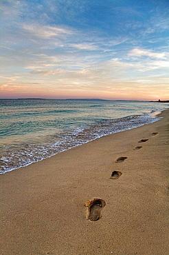 Fingerprints in a beach in Ibiza