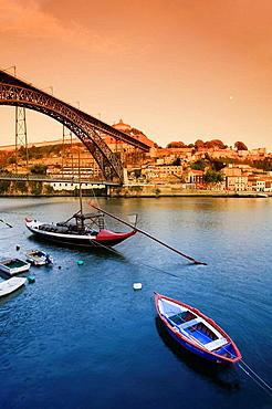 Vila Nova de Gaia, Douro River and Ponte de Dom Luis I, Porto UNESCO World Heritage, Portugal