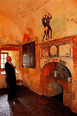 Marquis of Braquilanges in the chemist of the Castle of Cenevieres, Lot, Midi-Pyrenees, France