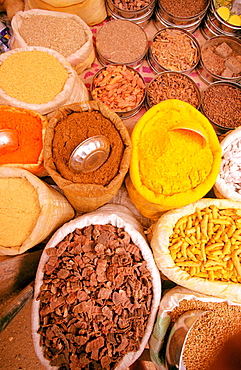 Spices in a rural market in India