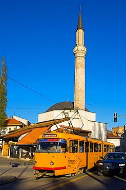 Traffic along Mula Mustafe Baseskije street in Sarajevo Bosnia Hercegovina Europe