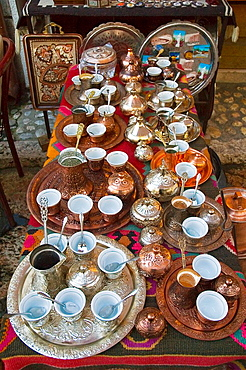 Kazandziluk street in Bascarsija district is the best place for traditional souvenirs in Sarajevo Bosnia Hercegovina Europe