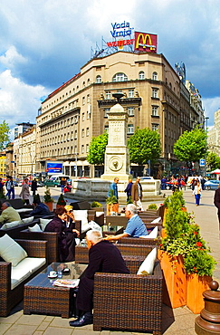 Terrace of Cafe Moskva at Terazije in Belgrade Serbia Europe