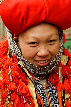 Red Dzao woman, Sa Pa, Vietnam