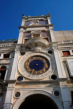 Torre dellOrologio (St, Marks Clocktower), St, Marks Square, Venice, Italy