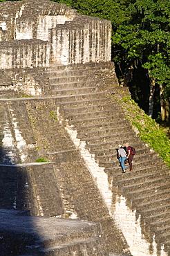 GUATEMALA, El Peten, Tikal, Gran Plaza, Central Acropolis