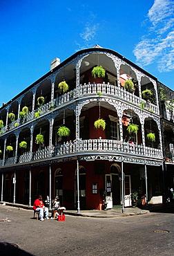 Royal Cafe, Le Monnier House, 700 Royal Street, French Quarter, New Orleans, Louisiana, USA