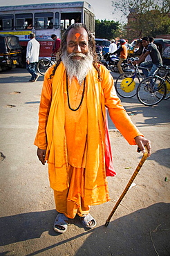 A holy man in a street, Pink City, Jaipur, Rajasthan, India
