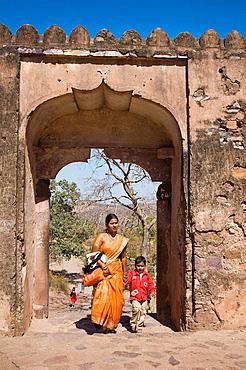 Tourists visiting Ranthambhore Fort, Ranthambhore National Park, Rajasthan, India