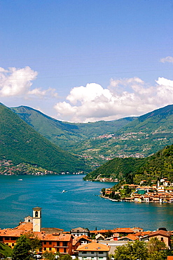 View of the lake d'Iseo, Lombardia, Italy.