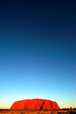 Sunset over Uluru Ayres Rock in Northern Territory in Australia