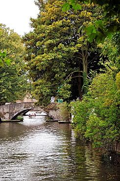 Canal  Medieval town of Bruges, Belgium  Brugge