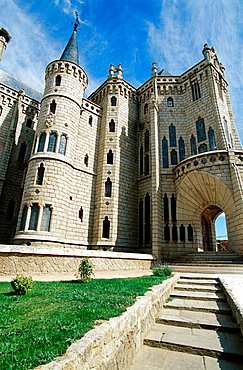 Episcopal Palace by Gaudi, Astorga, Leon province, Castilla-Leon, Spain