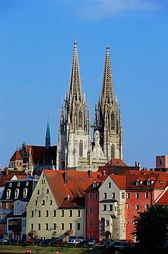 St, Peters cathedral, Regensburg, Bavaria, Germany