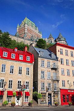 Canada, Quebec, Quebec City, Chateau Frontenac Hotel, Boulevard Champlain