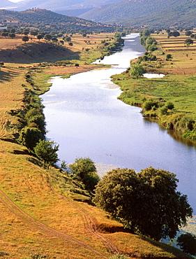 Guadiana River near Puebla de Don Rodrigo, Ciudad Real province, Spain