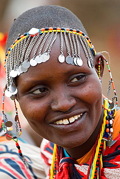 Masai woman, Masai Mara, Kenya