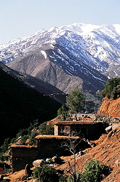 Mount Toubkal (4,165 m.), the highest mountain in Morocco